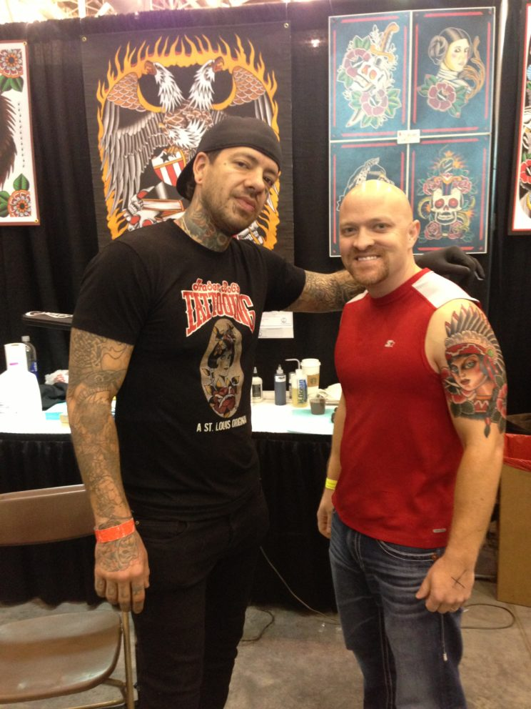 Myke Chambers and Chris Park tattoo